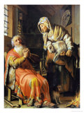 Tobit and Anna Giclee Print by Rembrandt van Rijn