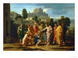 Jesus Healing the Blind of Jericho Wydruk giclee autor Nicolas Poussin