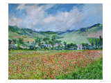 Un champ de coquelicots Reproduction proc&#233;d&#233; gicl&#233;e par Claude Monet