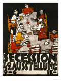 Sezessionsplakat 1918, Poster for the 49th Secession Exhibition by the Neukunstgruppe, Austria Giclee-vedos tekijänä Egon Schiele