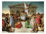 Homer&#39;s Apotheosis, 1827 Giclee Print by Jean-Auguste-Dominique Ingres