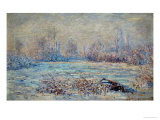 Hoar-Frost Near Vetheuil, 1880 Giclee Print by Claude Monet