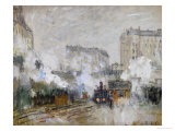 Streetside of the Gare St. Lazare, Seen Towards the Tunnel of Batignolles, 1877 Giclee Print by Claude Monet