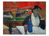 Woman in a Coffeehouse, Madame Ginoux in the Cafe De La Gare in Arles Giclee Print by Paul Gauguin