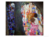 Life and Death (Tod Und Leben) Reproduction procédé giclée par Gustav Klimt