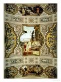Theatre in Taormina, 1884-1887, (Detail), from the Vienna Burgtheater Giclée-Druck von Gustav Klimt