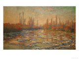Ice Flows on the Seine, 1880 Giclee Print by Claude Monet