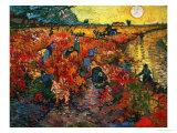 El viñedo rojo en Arles, c.1888 Lámina giclée por Vincent van Gogh