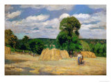 The Harvest, 1876 Giclee Print by Camille Pissarro