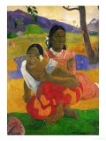 Nafea Faaipolpo (When are You Getting Married) Giclee Print by Paul Gauguin