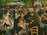 Dance at the Moulin De La Galette, 1876 Giclee Print by Pierre-Auguste Renoir