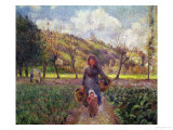 In the Garden Giclee Print by Camille Pissarro