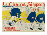 Poster for La Chaine Simpson, Bicycle Chains, 1896 Gicle-tryk af Henri de Toulouse-Lautrec