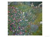 Italian Garden Landscape, 1917 Reproduction procédé giclée par Gustav Klimt