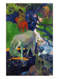 White Horse, 1898 Reproduction procédé giclée par Paul Gauguin