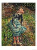Jeune Fille a La Baguette Ou La Bergere, 1881 Giclee Print by Camille Pissarro