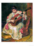 The Guitar Player Giclee Print by Pierre-Auguste Renoir