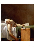 Assassination of Jean-Paul Marat in His Bath, 1793 Giclee Print by Jacques-Louis David