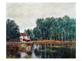 Along the Canal at Moret-Sur-Loing, 1892 Giclee Print by Alfred Sisley