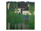 Unterach Manor on the Attersee Lake, Austria, 1915-1916 Reproduction procédé giclée par Gustav Klimt