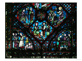 The Life of St. James, Including Scene with Furriers and Drapers, Stained Glass Giclee Print