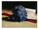 The Bunch of Violets, 1872 Lmina gicle por douard Manet