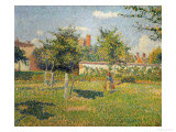 Morning Sun, Autumn, a Woman in an Orchard, Eragny, 1887 Giclee Print by Camille Pissarro