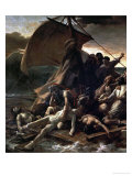 The Raft of the Medusa, Catastrophe in Which Survivors of the Ship Medusa Drifted for 27 Days Reproduction procédé giclée par Théodore Géricault