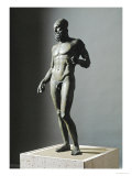 Riace Bronze (B), Statue of a Young Man with Helmet Giclee Print by Phidias