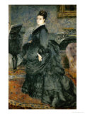 Portrait of a Lady (Mme. Georges Hartmann), 1874 Giclee Print by Pierre-Auguste Renoir