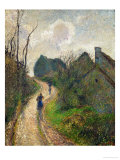 Ascending Path in Osny, 1883 Reproduction procédé giclée par Camille Pissarro