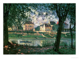 Village by the Seine (Villeneuve-La-Garenne) Giclee Print by Alfred Sisley