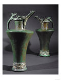 Two Bronze Jugs with Coral and Enamel Inlay, from Grave in Bas-Yutz, Moselle, France Giclee Print