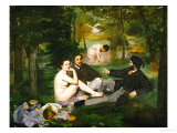 Dejeuner Sur L'Herbe (Luncheon on the Grass), 1863 Giclee Print by Édouard Manet