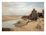 Fisherman's Huts at Sainte-Adresse Giclee Print by Jean-Baptiste-Camille Corot