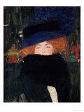 Gustav Klimt - Lady with Hat and Feather Boa, 1909 Digitálně vytištěná reprodukce