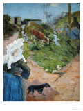Women of Brittany and Calf, 1888 Giclee Print by Paul Gauguin