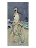 Camille, Monet's First Wife, on the Beach, 1870 Giclee Print by Claude Monet