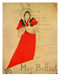 May Belfort, 1895 Giclee Print by Henri de Toulouse-Lautrec