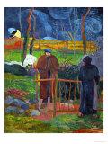 Bonjour, Monsieur Gauguin, Self-Portrait, Hommage a Courbet Giclée-tryk af Paul Gauguin