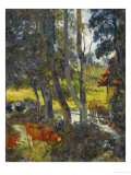 Landscape in Normandy with Pond, 1885 Reproduction procédé giclée par Paul Gauguin