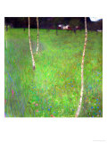 Farmhouse with Birch Trees Reproduction procédé giclée par Gustav Klimt