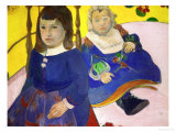 The Children of Gauguin's Friend, the Painter Emil Schuffenecker, Jeane and Paul, 1889 Giclee Print by Paul Gauguin
