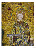 Empress Irene, Holding the Deed for the Church's Endowment, In the South Gallery of Hagia Sophia Giclee Print