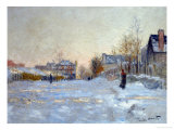 Snow in Argenteuil, 1875 Giclee Print by Claude Monet