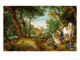 Rubens and Peter Brueghel the Younger: The Vision of Saint Hubertus Giclee Print by Peter Paul Rubens