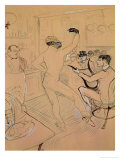Chocolate Dancing in Achille's Bar, Drawing, 1894 Gicléedruk van Henri de Toulouse-Lautrec