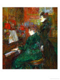 The Singing Lesson (The Teacher, Mlle. Dihau, with Mmr. Faveraud), 1898 Giclee Print by Henri de Toulouse-Lautrec