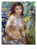 Study, Torso, Sun Light (Young Woman in the Sun), 1875-1876 Giclee Print by Pierre-Auguste Renoir