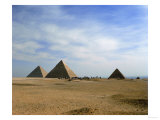 The Pyramids of Cheops, Chefren and Mykerinos, Old Kingdom, 4th Dynasty Giclee Print